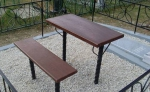 Столы и скамейки на могилу